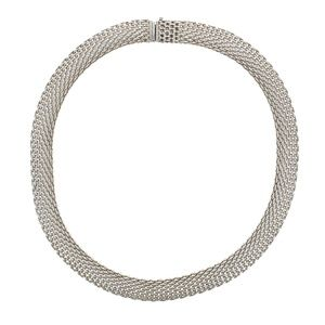 """Tiffany & Co Sterling silver mesh necklace 17"""""""
